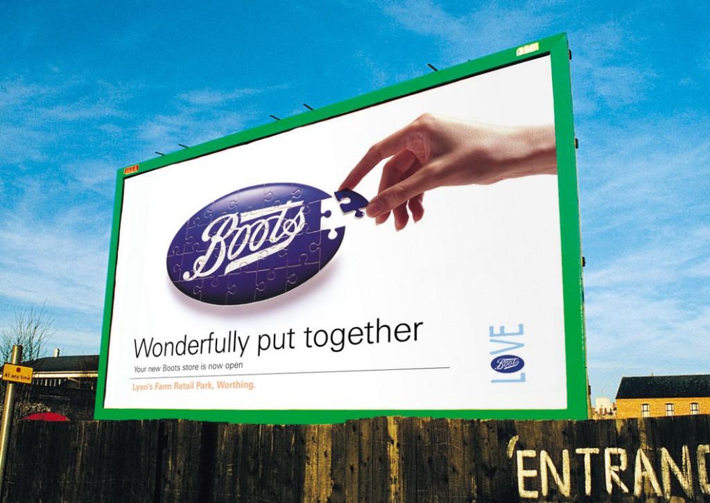 Boots Jigsaw Logo Billboard