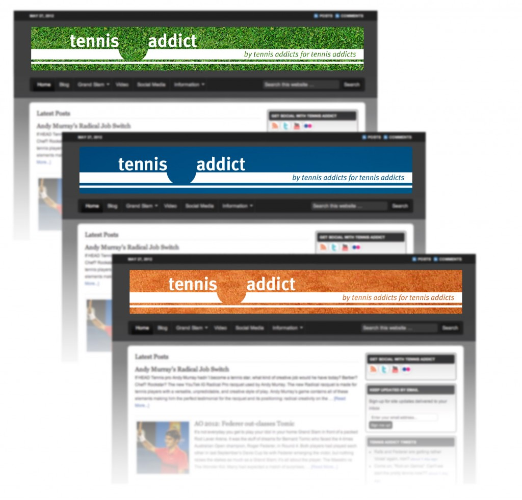 Tennis Addict web banners