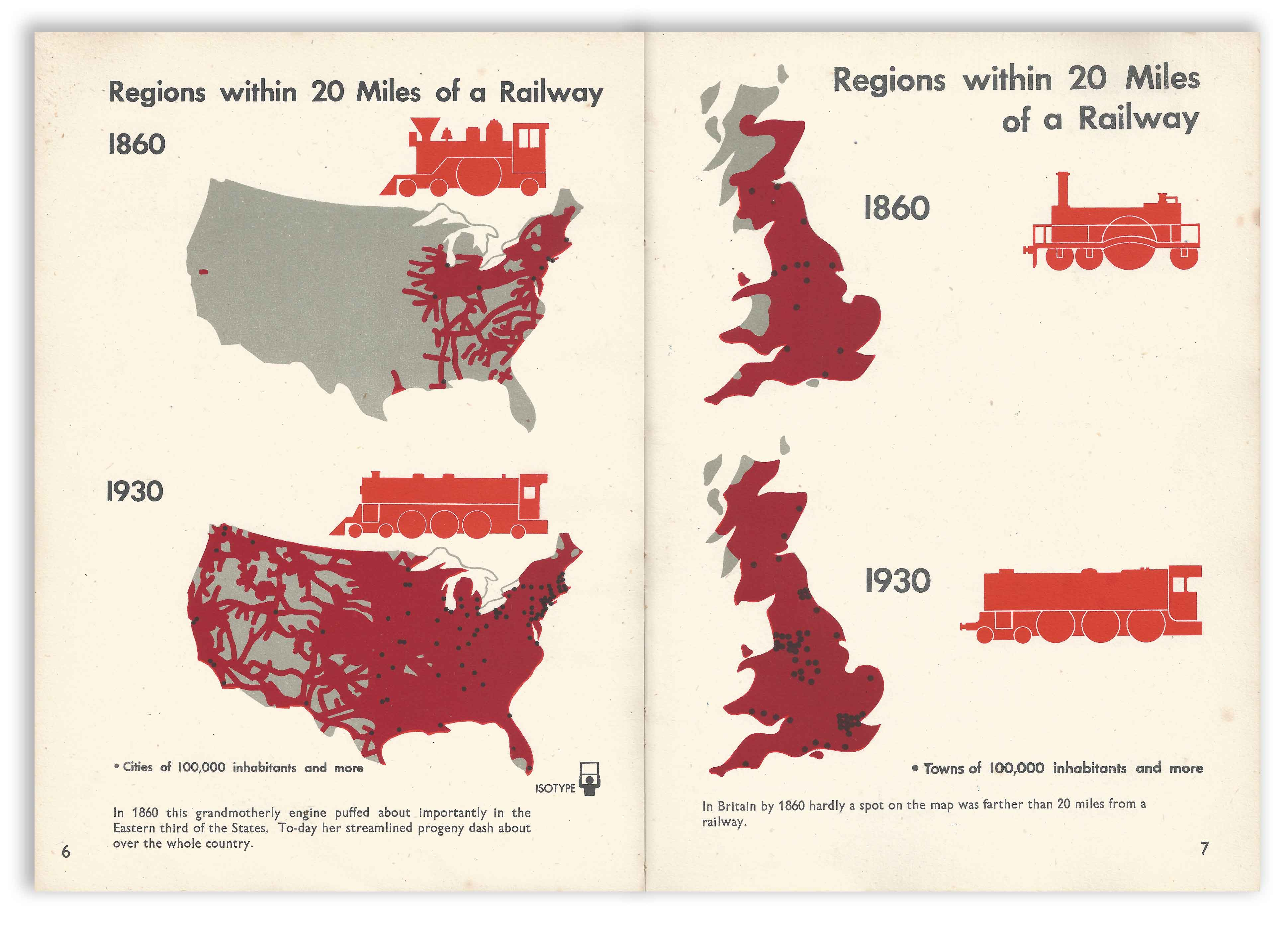 Isotype - Only An Ocean Between - Regions Within 20 Miles Of A Railway